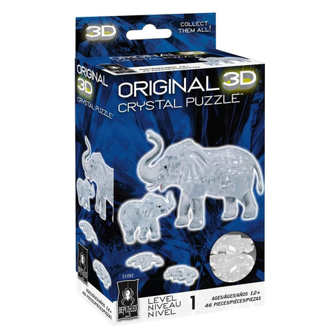Elephant and Baby 3D Crystal