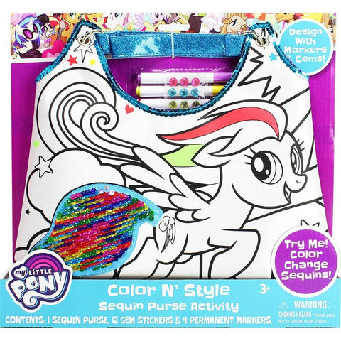 My Little Pony Color N Style Sequins Purse