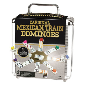 Mexican Train Dominoes in Aluminum Case - Calendar Club Canada