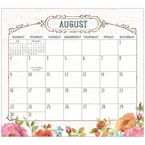 Country Fresh 2020 Mini Magnetic Pad Calendar Front Cover