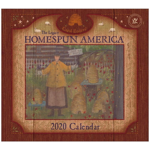 Homespun America 2020 Wall Calendar Front Cover