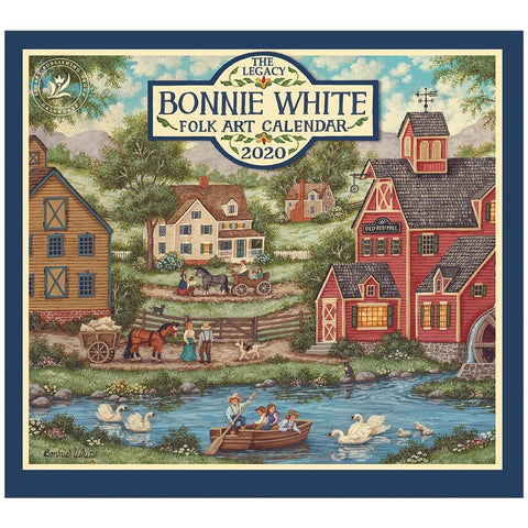 Bonnie White Folk Art 2020 Wall Calendar Front Cover