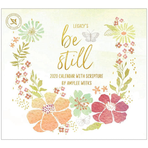 Be Still 2020 Wall Calendar Front Cover