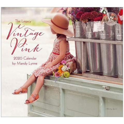 Vintage Pink 2020 Wall Calendar Front Cover