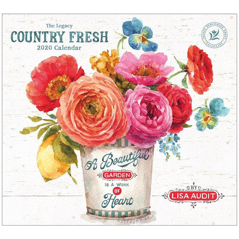 Country Fresh 2020 Wall Calendar Front Cover