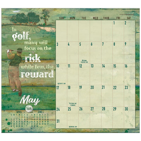Golf Its More Than Just A Game 2020 Mini Magnetic Pad Calendar Front Cover