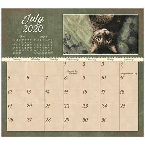 Cats 2020 Mini Magnetic Pad Calendar Front Cover
