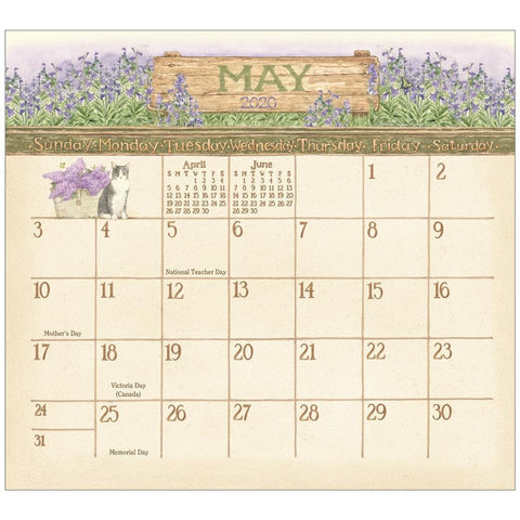 Garden Path 2020 Mini Magnetic Pad Calendar Front Cover