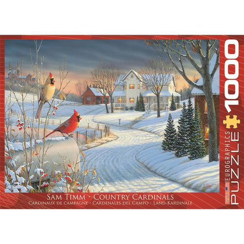 Country Cardinals Animal Puzzle 1000 Piece