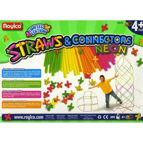 Neon Straws and Connectors 300 pk