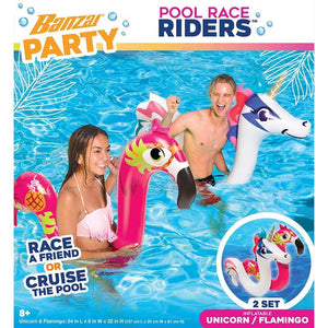 Party Unicorn Flamingo Pool Race Riders  Outboor Play Product Image - Calendar Club