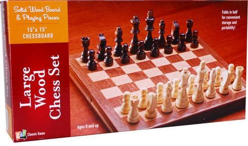 Wooden Chess Set Large - Calendar Club of Canada