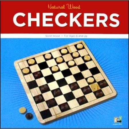 Checkers w/Natural Board - Calendar Club of Canada