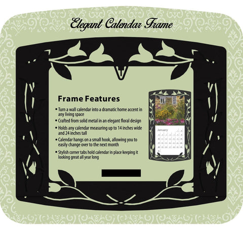 Black Elegant Metal Frame - Calendar Club of Canada - 1