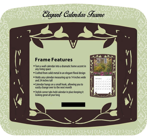 Bronze Elegant Metal Frame - Calendar Club of Canada - 1