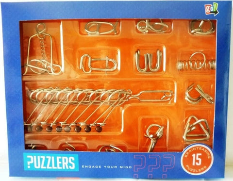 15 in 1 Metal Puzzler Set - Calendar Club of Canada