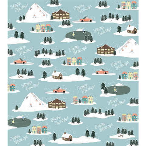 Giftwrap Retro Winter Wonderland Calendar Wrap