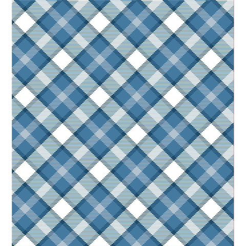 Giftwrap Blue and White Plaid Calendar Wrap