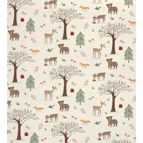 Giftwrap Watercolour Woodland Large