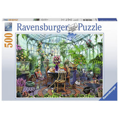 Greenhouse Morning Scenic Puzzle 500 Piece Package Image