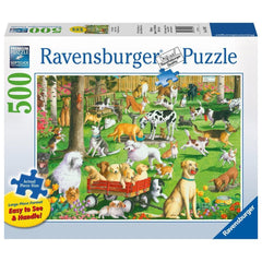 At the Dog Park Animal Puzzle 500 Piece Package Image