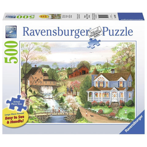 The Fishing Lesson Scenic Puzzle 500 Piece Package Image