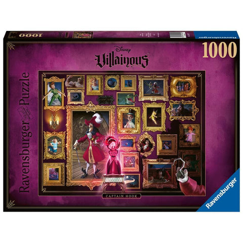 Captain Hook Disney Puzzle 1000 Piece Package Image