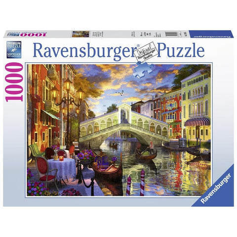 Sunset over Rialto Scenic Puzzle 1000 Piece Package Image