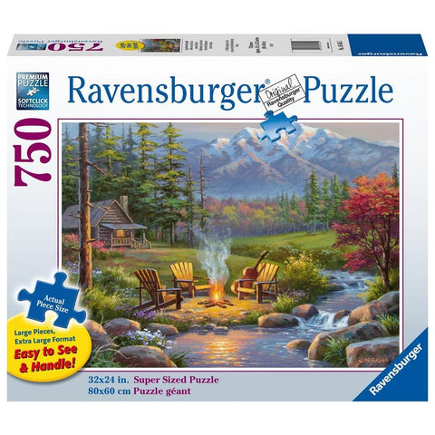 Riverside Livingroom Scenic Puzzle 1000 Piece Package Image