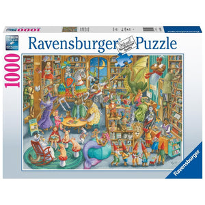 Midnight at the Library Fantasy Puzzle 1000 Piece Package Image