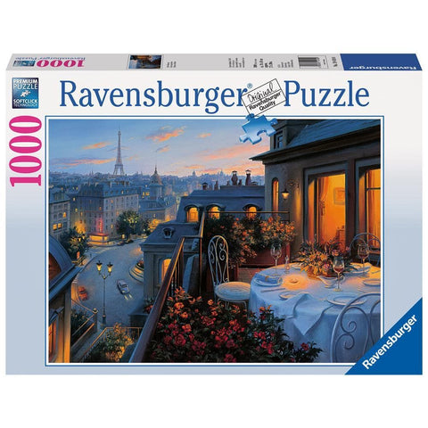 Paris Balcony Scenic Puzzle 1000 Piece Package Image