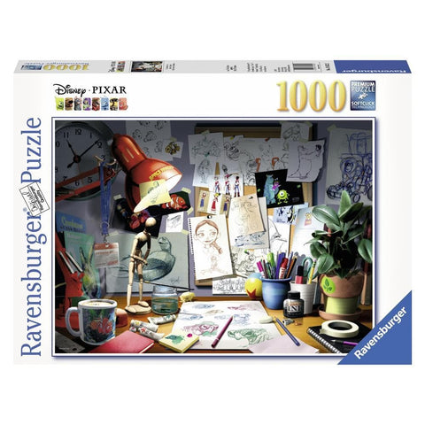 The Artists Desk Colour Puzzle 1000 Piece Package Image