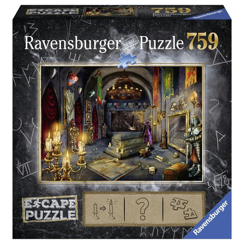Vampires Castle Fantasy Puzzle 759 Piece Package Image