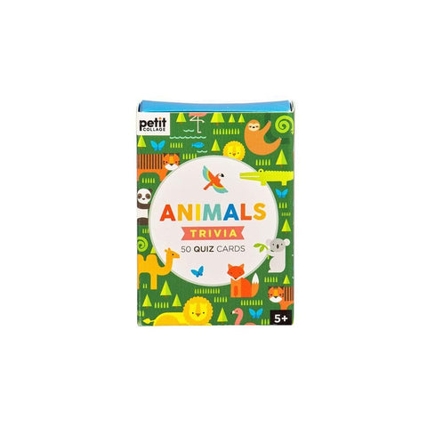 Animals Trivia Cards Chiildrens Game Front Image