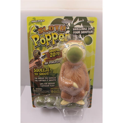 605168543590 Sloth Squeeze Popper Hog Wild - Calendar Club1
