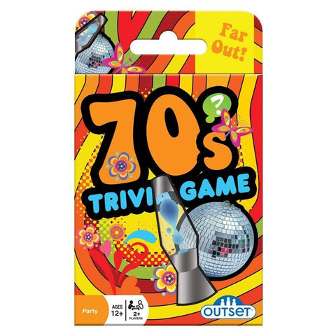 625012191371 70s Trivia Card Game Outset Media - Calendar Club1