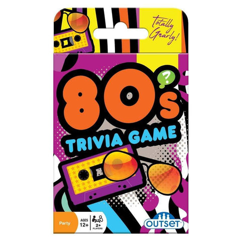 625012191388 80s Trivia Card Game Outset Media - Calendar Club1