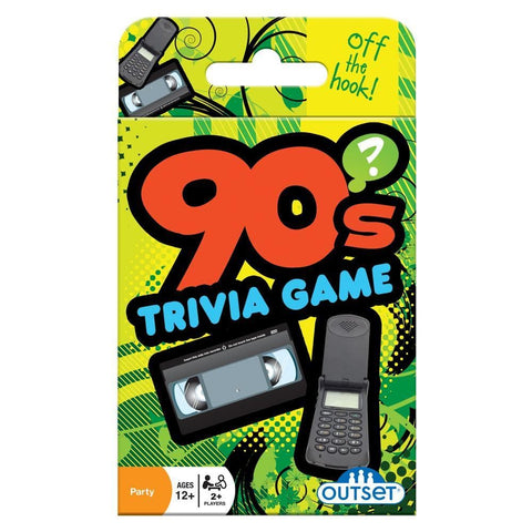 625012191395 90s Trivia Card Game Outset Media - Calendar Club1