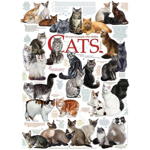 Cat Quotes 1000 Pc Puzzle