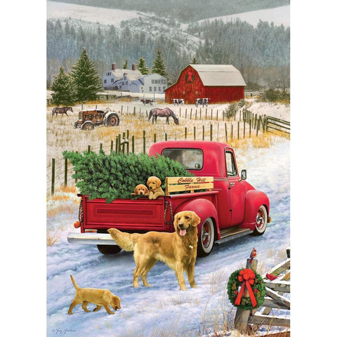 Christmas on the Farm Scenic Puzzle 1000 Piece