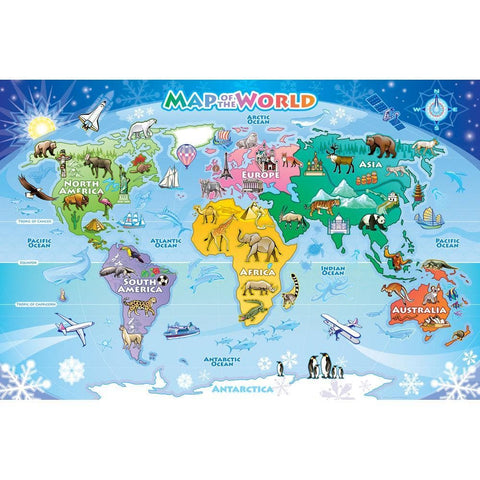 Map of the World 48pc Puzzle