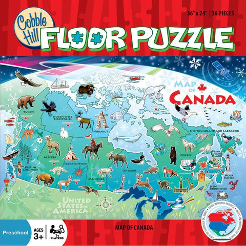 625012551199 Map of Canada 48pc Cobble Hill - Calendar Club1