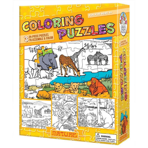 Nature Color Your Own 24 pc Puzzle