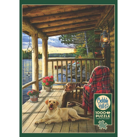 Cabin Porch 1000 Pc Puzzle