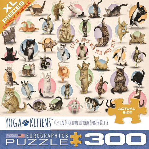 Yoga Kittens 300 Pc Puzzle