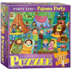 Pajama Party Childrens Puzzle 60 Piece