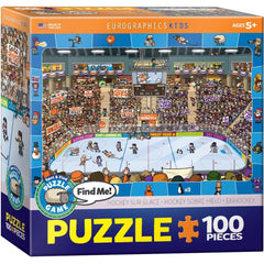 Spot and Find Me Hockey Puzzle Game 100 Piece