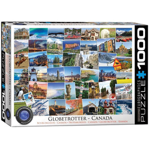 Globetrotter Canada Travel Puzzle 1000 Piece