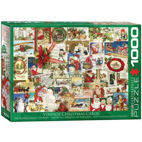 Vintage Christmas Cards Holiday Puzzle 1000 Piece