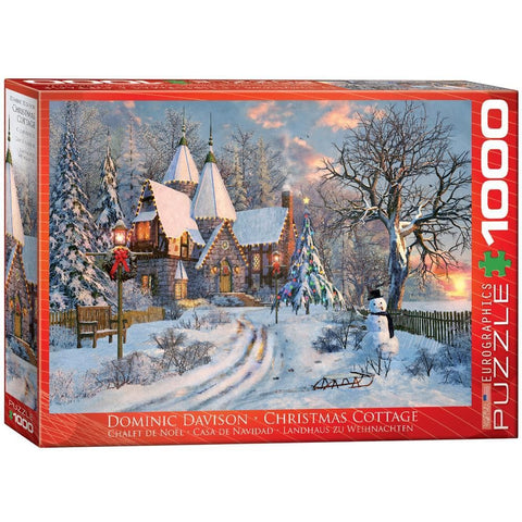 Christmas Cottage Holiday Puzzle 1000 Piece